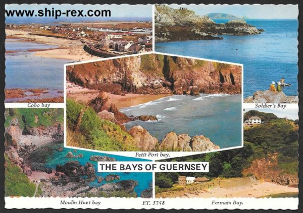 The Bays Of Guernsey, multi-view postcard
